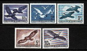 Austria #54 56-59 Airmails (mint NEVER HINGED) cv$262.00