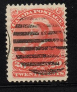 Canada 1893 20c vermilion Victoria in Widow Weeds stamp used