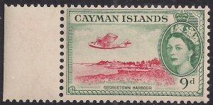 Cayman Islands 1953 - 62 QE2 9d Georgetown Harbour MM SG 157 ( J1182 )