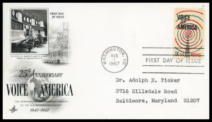 US FDC #1329 Radio Transmission Tower and Waves ~ ArtCraft Cachet