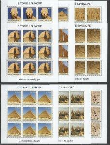 KV105 2003 S. TOME & PRINCIPE NEW ART MONUMENTS OF EGYPT !!! 9SET(9SH) MNH