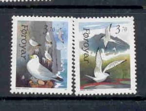 Faroe Islands Sc 224-5 1991 Birds stamp set mint NH