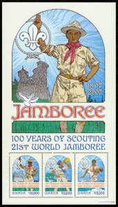 Ghana 100 Years od Scouting Sheet (2007) Mint NH VF C