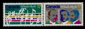 Canada 858a MNH Music, Composer O Canada