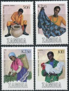 Zambia MNH 444-7 Trade Fair Culture Crafts SCV 4.05