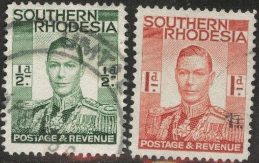 Southern Rhodesia Scott 42-43 Used short set