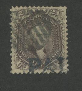 1862 US Stamp #70 24c Used F/VF Faint PAID Postal Cancel