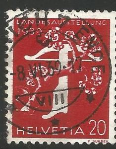 SWITZERLAND 262 USED STAMP, TREE AND CROSSBOW