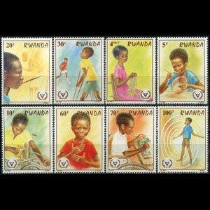 Rwanda MNH 1059-66 International Year Of Disabled Children 1981