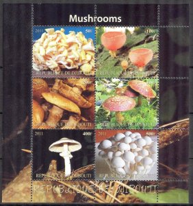 Djibouti 2011 Mushrooms (1) MNH Cinderella !