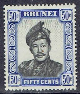 Brunei, Scott #93; 50c Sultan, Wmk 4, MH