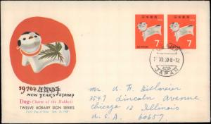 Japan, Worldwide First Day Cover, Dogs