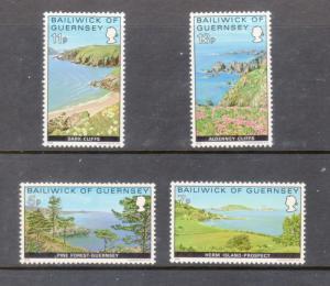 Guernsey MNH 137-40 Landscapes