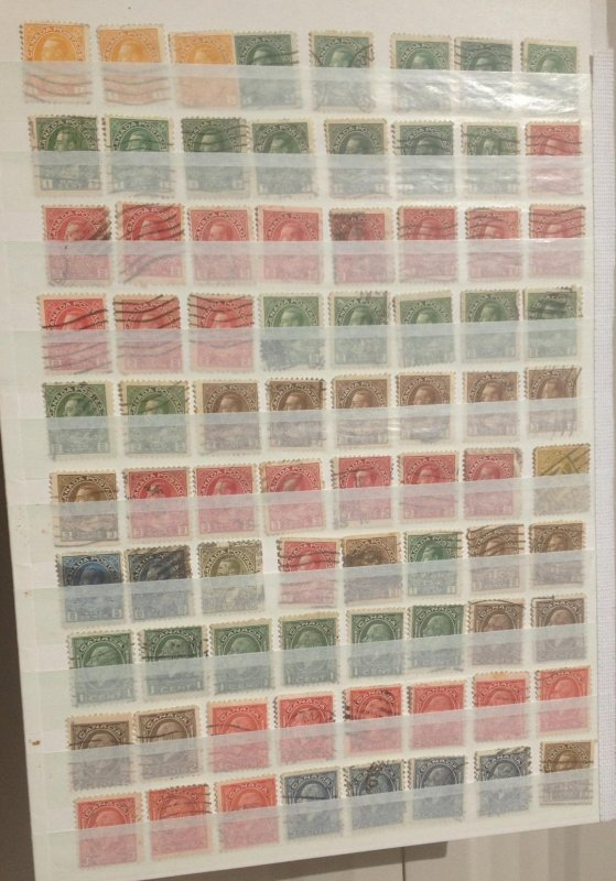 Canada Lot Of 80 KGV Used SC 104-119,195-199 DUPLICATES On a Stock Page.