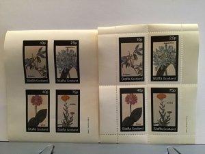Staffa Scotland plant flowers Achichea Atragene MNH stamps  R25311