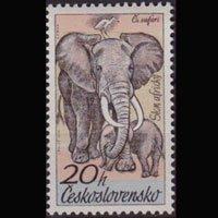 CZECHOSLOVAKIA 1976 - Scott# 2084 Elephants 10h NH