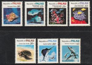 PALAU 75-85, DEFINITIVE ISSUE - MARINE LIFE, 1985.. MNH VF (146)