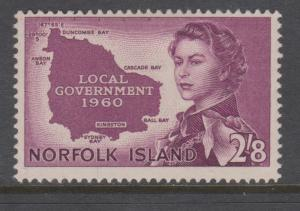Norfolk Island 1960 Local Government 2/8 Sc#42 Mint