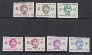 Paraguay Scott #1377-1383 MH