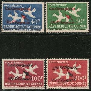 GUINEA Sc#C35-C38 1962 Conquest of Space Complete Set Mint OG NH