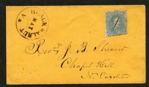 CSA Cover Scott #4b Rare CDS Postmark Black Walnut VA Pop. 48 May 31 VPHS Liste