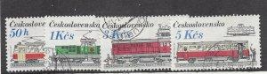 Czechoslovakia, 2626-29, Locomotives / Streetcars Singles, Used