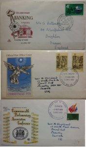 Australia 1970 Parliamentary Conference & 1974 Xmas & 1967 Bank Australia FDC