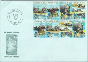 84464 - TCHAD  CHAD  - Postal History - FDC COVER 2001 Animals BOY SCOUTS hypo
