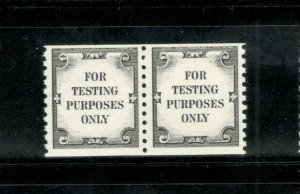 TD112 Test Stamp For Testing Purposes Pair Dull Gum Mint/nh FREE SHIPPING