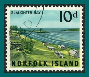 Norfolk Island 1964 Views, 10d used  #53,SG54