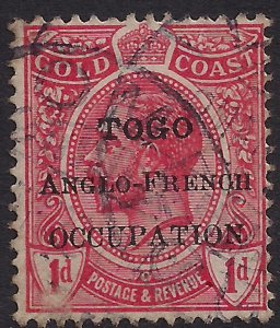 Toga 1915 KGV 1d Red Anglo French Ovpt SG H35  ( J913 )