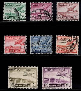 IRAQ Scott C1-C8 Used Airmail stamp set