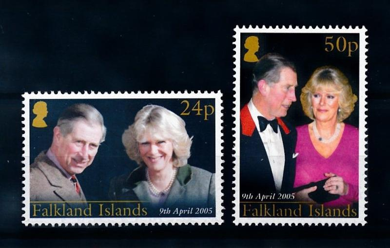 [71855] Falkland Islands 2005 Royal Wedding Prince Charles Camilla  MNH