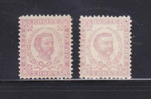 Montenegro 11, 11a MH Prince Nicholas I (B)