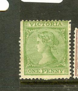 VICTORIA (P1912B) QV 1D    SG116   WMK 6  MOG