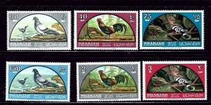 Sharjah C28-33 MNH 1965 Birds