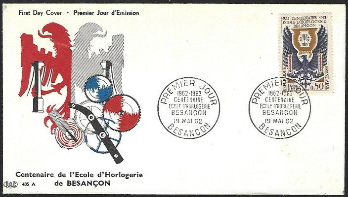 France #1036 May 19, 1962 Besancon First Day Cover Unaddressed