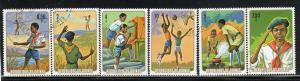 GUINEA #678-683  1974 NATIONAL PIONEER MOVEMENT     MINT  VF LH  O.G  CTO