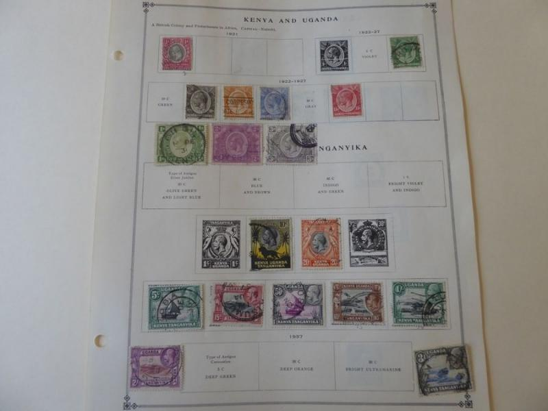 Kenya & Uganda 1921-1940 Mint/Used Stamp Collection on Scott Int Album Pages