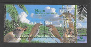 BIRDS - NAURU #522  MNH