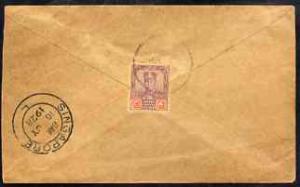 Malaya - Johore 1928 cover to Singapore bearing Sultan 4c...