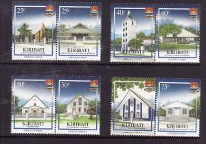 Kiribati-Sc#954-7-Unused NH set-Christmas-Churches-2008--please note there is a
