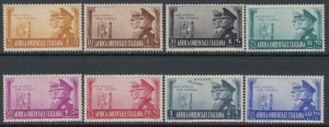 ITALY - AOI - Mussolini and Hitler Friendship   Sassone n.34-40 +A21 MH*