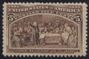 US Scott #234 Mint, FVF, NH