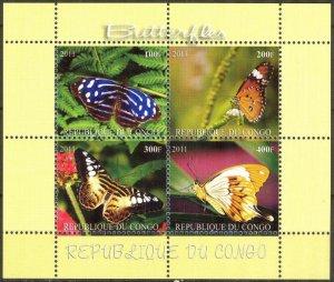 Congo 2011 Butterflies (9) MNH Cinderella !
