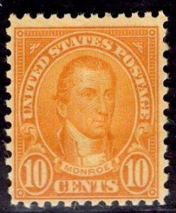 US Stamp #642 10c Monroe MINT NH SCV $5.50