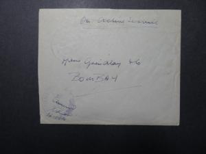 India 1943 Forces Cover / APO 69 (WANGJING) / Censored - Z12394
