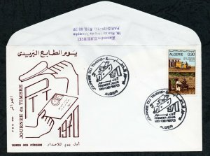 1970 - Algeria - Algérie - Day of the Stamp - Postman - Car - Donkey - FDC