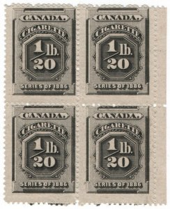 (I.B) Canada Revenue : Cigarette Duty (1/20lb)