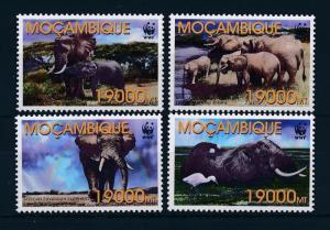 [53962] Mozambique 2002 Wild animals Mammals WWF Elephants MNH